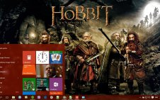 The hobbit win10 theme