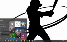 Softball win10 theme