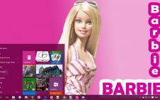Barbie win10 theme