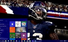 NY Giants win10 theme