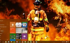 Firefighter win10 theme