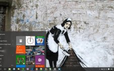 Banksy win10 theme