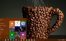 Coffee win10 theme