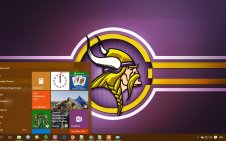 Minnesota Vikings win10 theme