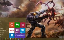 Starcraft 2 win10 theme