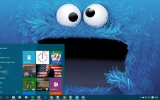 Cookie Monster win10 theme