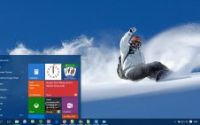Snowboarding win10 theme