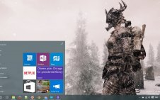 The Elder Scrolls V Skyrim win10 theme