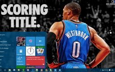 Russell Westbrook win10 theme