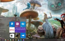 Alice In Wonderland win10 theme