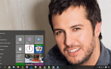 Luke Bryan win10 theme