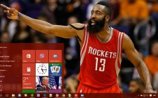 James Harden win10 theme