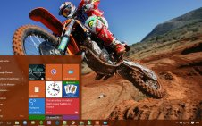 Dirt Bike win10 theme