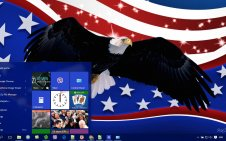 Patriotic win10 theme