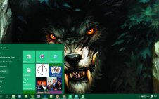 Werewolf win10 theme