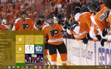 Philadelphia Flyers win10 theme