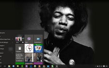 Jimi Hendrix win10 theme