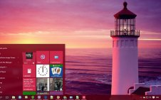 Lighthouse win10 theme