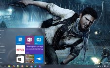 Uncharted 3 Drake's Deception win10 theme