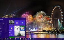 Fireworks win10 theme