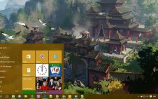Asian win10 theme