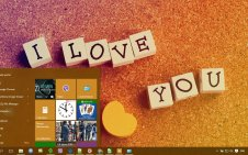 I love you win10 theme
