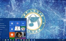 St Louis Blues win10 theme