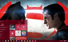 Batman v Superman win10 theme