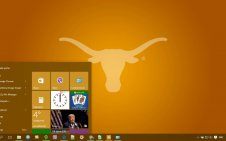 Texas Longhorns win10 theme
