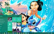 Lilo and Stitch win10 theme