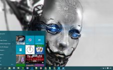 Robot win10 theme
