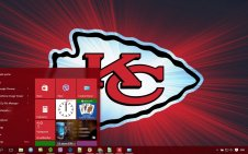 Kansas City Chiefs win10 theme
