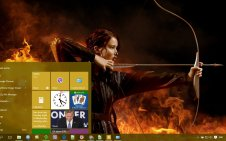 Catching Fire win10 theme