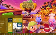 Animal Crossing: New Leaf win10 theme