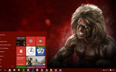 The Ultimate Warrior win10 theme