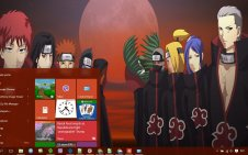 Akatsuki win10 theme