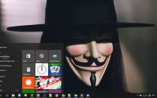 V for Vendetta win10 theme