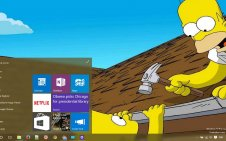 Simpsons win10 theme