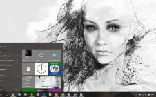 Woman Painting win10 theme