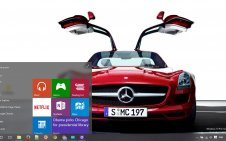 Mercedes win10 theme