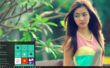 Beautiful Girl win10 theme