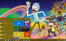 Rick and Morty win10 theme