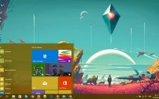No Man's Sky win10 theme