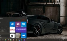Nissan GTR win10 theme