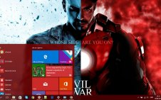 Captain America: Civil War win10 theme