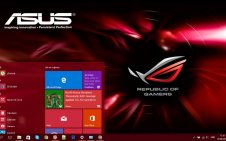 Asus ROG (Republic of Gamers) win10 theme