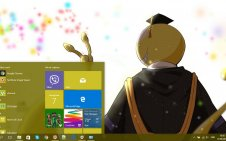Assassination Classroom win10 theme