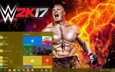 Brock Lesnar win10 theme