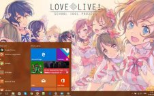 Love Live! win10 theme