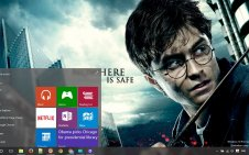 Harry Potter and the Deathly Hallows win10 theme